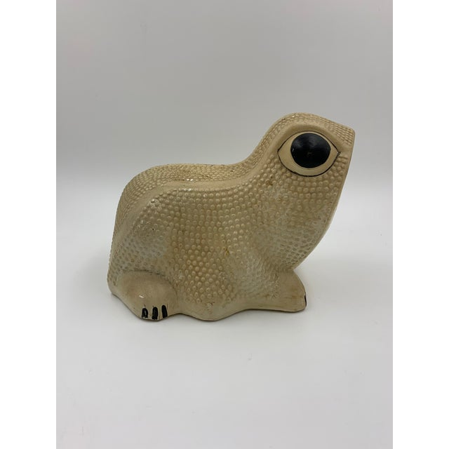 Vintage Chalkware Frog Bank For Sale In New York - Image 6 of 11