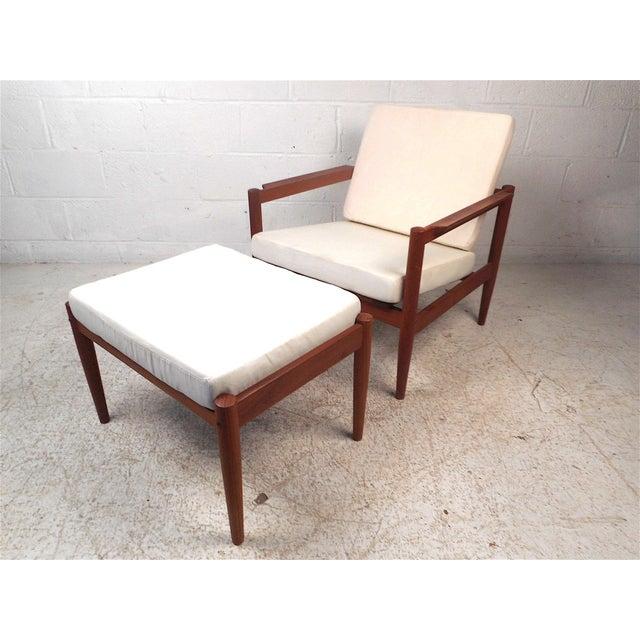 Danish Modern Lounge Chair and Ottoman by Bernstorffsminde Møbelfabrik For Sale - Image 13 of 13
