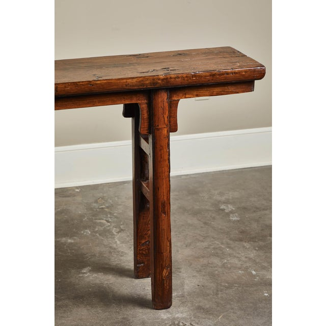 Wood 17th Century Chinese Elm and Poplar Altar Table For Sale - Image 7 of 9