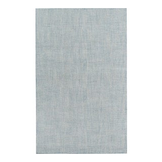 Contemporary Momeni Delhi Hand Tufted Blue Wool Area Rug - 5' X 8' For Sale