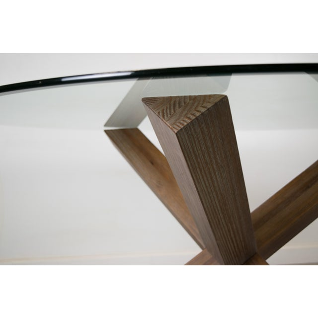 Sculptural Cerused White Oak Dining Table Attributed to Ralph Lauren - Image 9 of 11