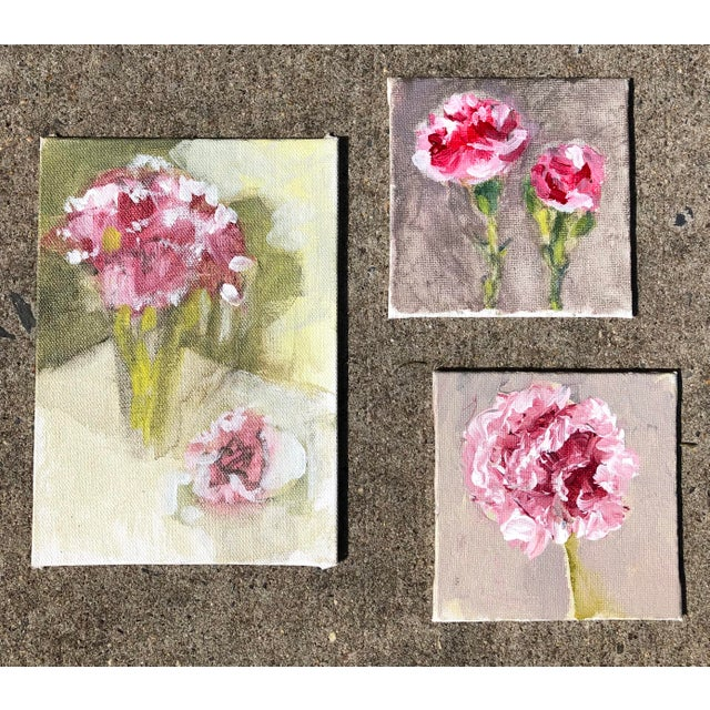 Gallery Wall Collection 3 Original Contemporary Impressionist Small Still Life Paintings For Sale In Philadelphia - Image 6 of 6