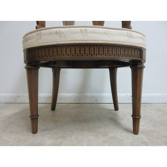 Cherry Wood Vintage Italian Regency Cherrywood Fireside Side Lounge Chair For Sale - Image 7 of 11