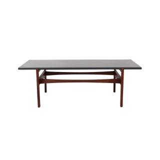Walnut and Slate Coffee Table by Jens Risom For Sale