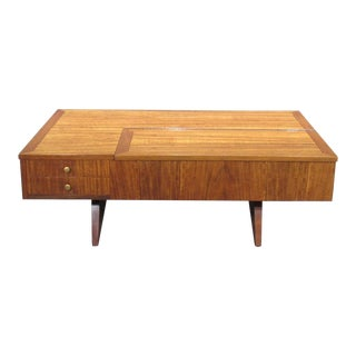 Origins Coffee Table With Storage Model 272 by George Nakashima for Widdicomb For Sale