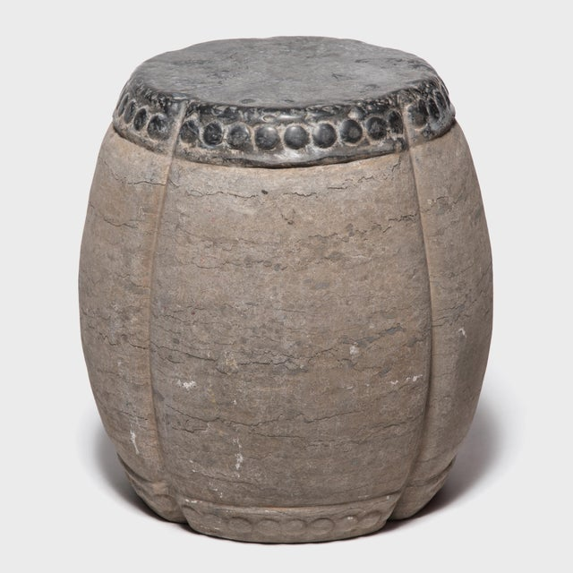 Chinese Clover Form Stone Drum For Sale - Image 4 of 8