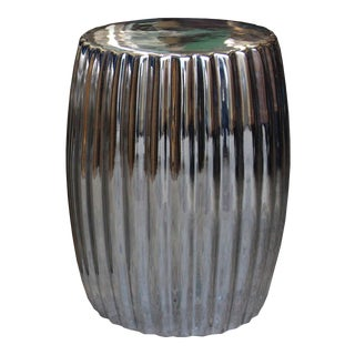 Chrome Chrysanthemum Stool