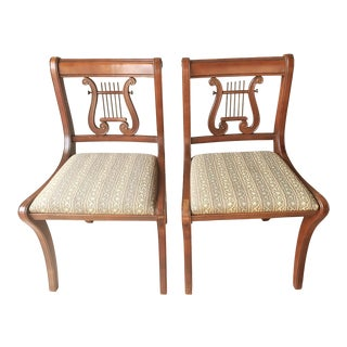Mahogany Duncan Phyfe Style Chairs - a Pair For Sale