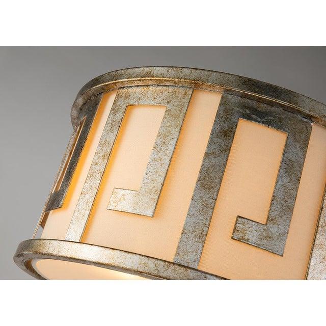 Flora 2 Light Pendant - Semi Flush, Medium, Distressed Silver For Sale - Image 4 of 6