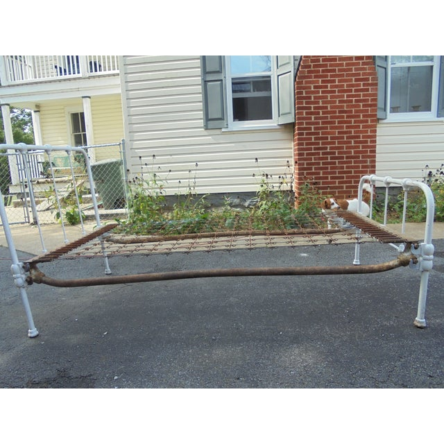 Vintage Iron Twin Bed - Image 3 of 8