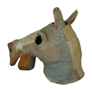 Costume Horse Head Oversize of Canvas From Atlanta Theater, Circa 1930 For Sale
