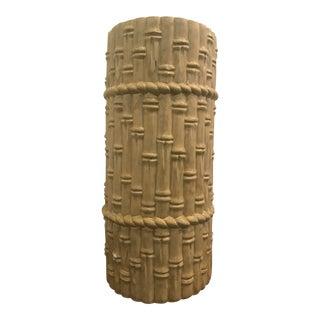 Ceramic Faux-Bamboo Umbrella Stand