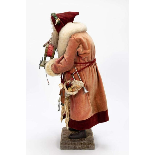 Large vintage Father Christmas figure, highly detailed, standing figure of a standing Father Christmas/Santa wearing an...