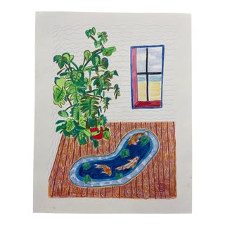 """Pond in a Room"" Drawing For Sale"
