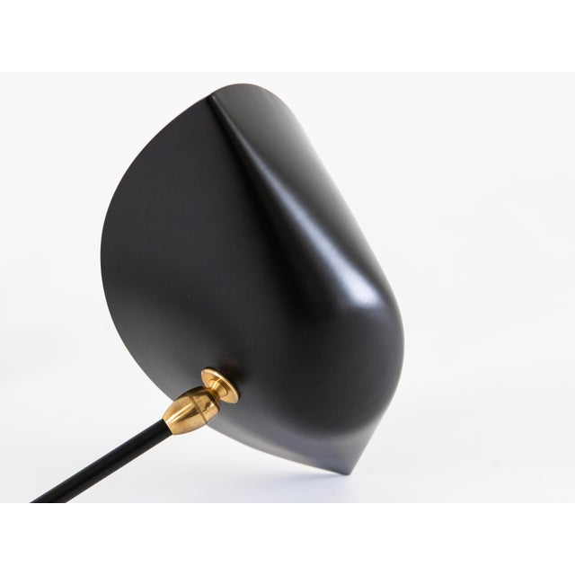 Gueridon Single Arm Antony Sconce by Serge Mouille in Black For Sale - Image 4 of 6