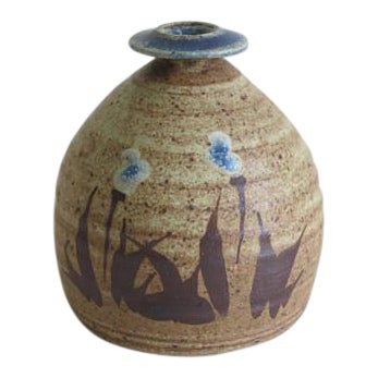 1970s Vintage Robert Fishman Stoneware Weed Pot For Sale