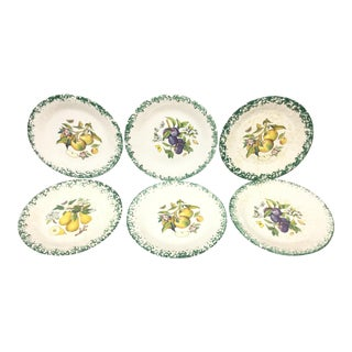 Italian Tre Ci Fruit Plates - Set of 6