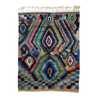 Modern Berber Moroccan Silk Rug with Contemporary Abstract Style For Sale