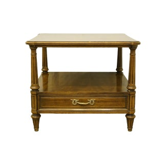 "20th Century Henredon Furniture Italian Provincial 26"" Square Accent End Table For Sale"