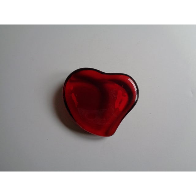 5c437770d13 Vintage Tiffany   Co. Elsa Peretti Red Crystal Heart Paper Weight ...