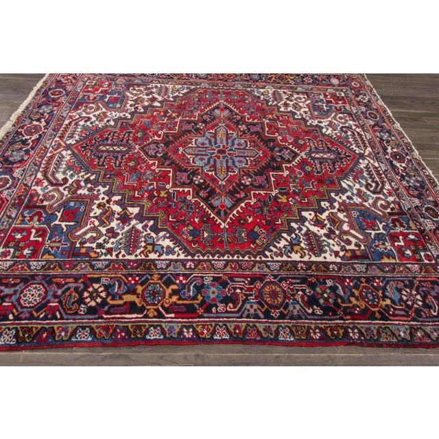 """Apadana - Vintage Persian Heriz Rug, 8' x 8'9"""" - Image 2 of 7"""
