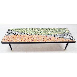 Mid-Century Modern Art Mosaic-Top Long Rectangular Table Preview