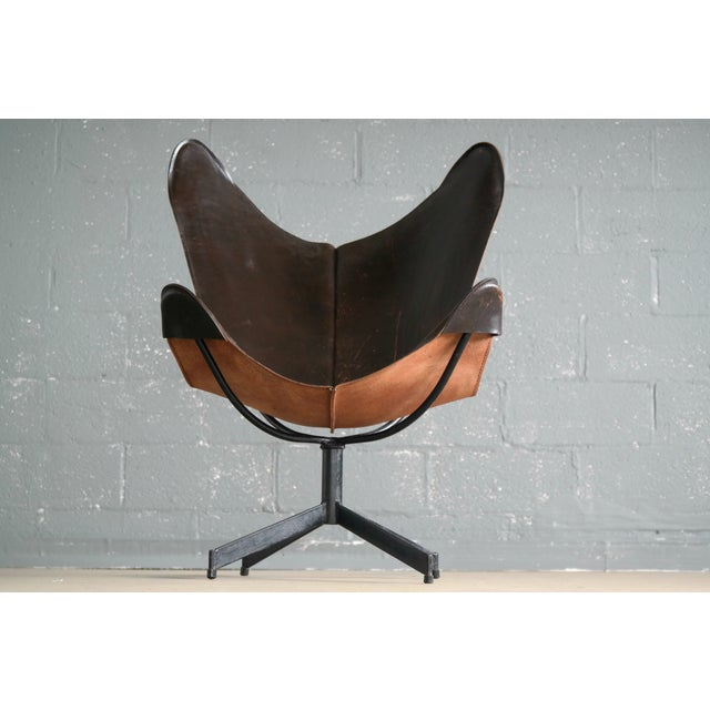 William Katavolos William Katavolos Leather Sling Chair and Ottoman for Leathercraft For Sale - Image 4 of 8