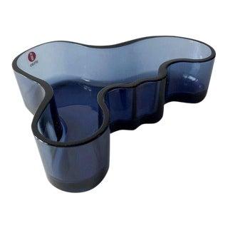 Alvar Aalto for Iittala Savoy Finnish Modernist Glass Bowl Dish Vase For Sale