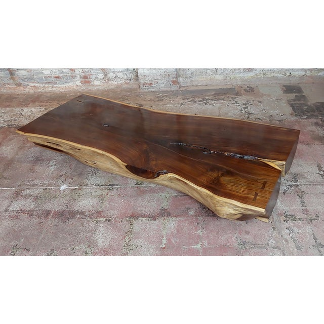 """African Leadwood Slab """"Monumental"""" Coffee Table For Sale - Image 13 of 13"""