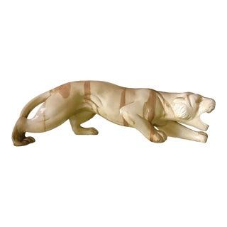 Vintage Cream Wildlife Safari Tiger Figure For Sale