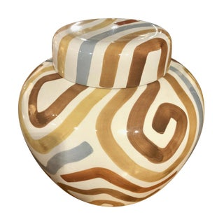 Tiffany & Co. Este Ceramiche Hand Painted Ginger Jar