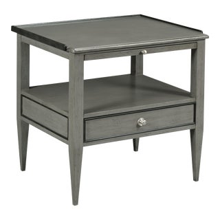 Modern Gray Side Table For Sale