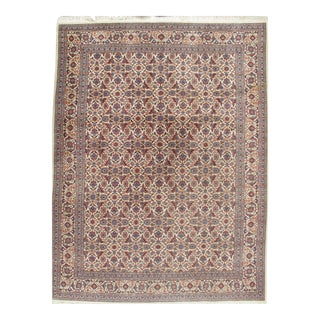 Vintage Mahal Hand Woven Rug 9'8 X 12'7 For Sale