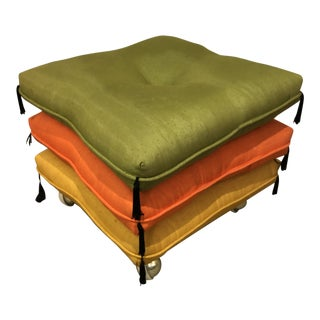 Mid Century Modern Pillow Ottoman Stool For Sale