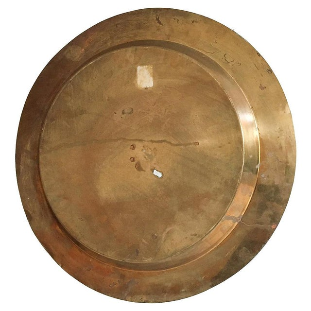 Bamboo-Style Round Brass Tray - Image 4 of 4