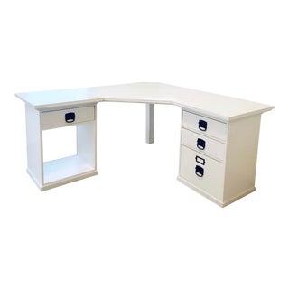 Pottery Barn Bedford White Corner Desk For Sale