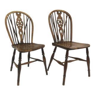 19th Century English Windsor Side Chairs- a Pair For Sale