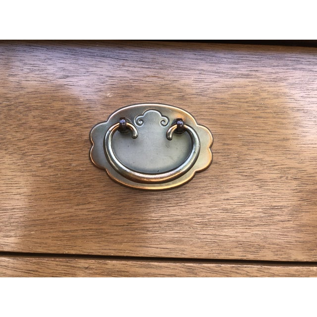 Brass Mid Century American of Martinsville Chinoiserie Dresser For Sale - Image 7 of 13