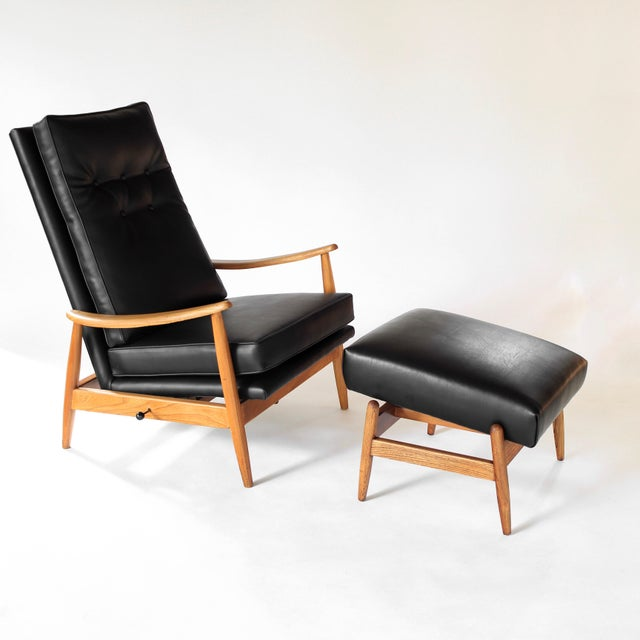 Vintage Milo Baughman Recliner and Ottoman Lounge Chair for James Inc. For Sale - Image 12 of 12