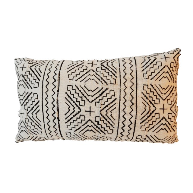 Custom Made Lumbar Mud Cloth Pillow - Image 1 of 3