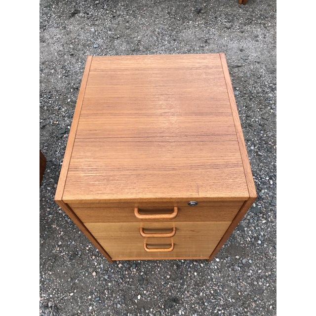 Danish Teak File Cabinet on Casters by Jesper For Sale - Image 9 of 13