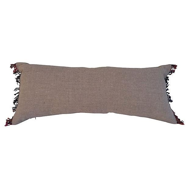 Embroidered Thai Silk Dragon Pillow - Image 4 of 5