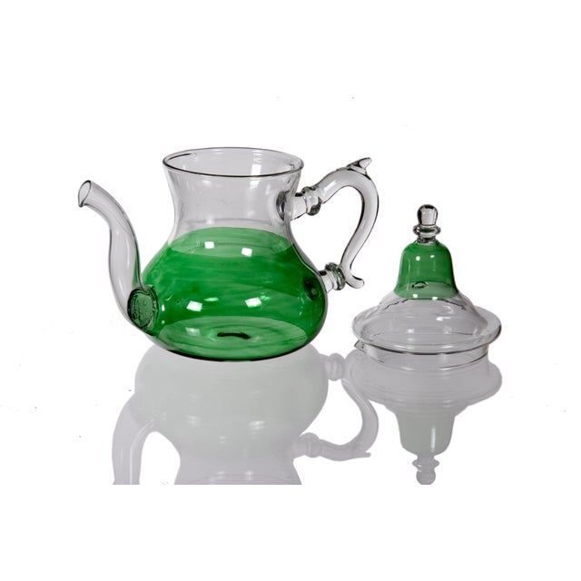 Moroccan Green Glass Teapot - Image 4 of 5