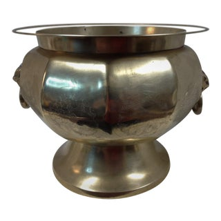 Vintage Mid Century Jardinie're Fine Quality Brass Pot For Sale