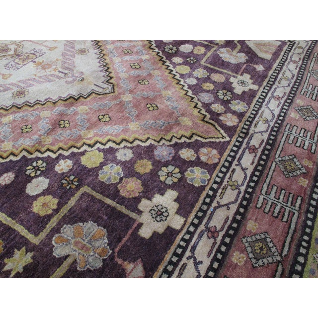 Textile Khotan Carpet For Sale - Image 7 of 10