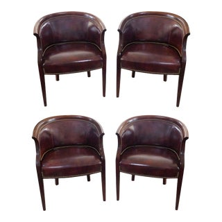 Hancock & Moore Visitor's Leather Chairs - Set of 4 For Sale