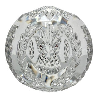 Times Square New Years Waterford Crystal Ball Paper Weight For Sale