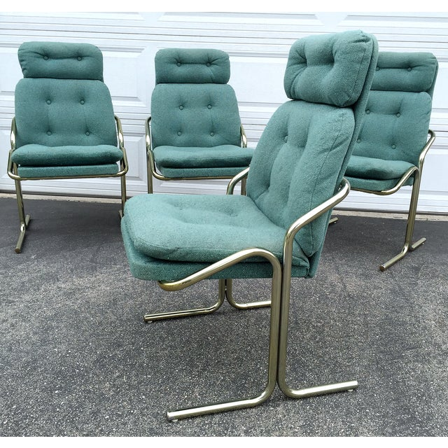 Blue Jerry Johnson Style Dining Chairs - Set of 4 - Image 6 of 8