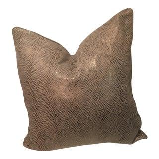 Ralph Lauren Theodora Snakeskin Pillow For Sale