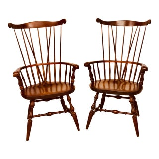 Nichols & Stone Windsor Chairs- a Pair For Sale